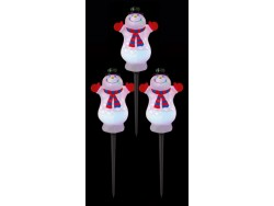 Path Lights Set 3 Snowmen