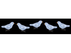 Acrylic Ice White Birds Set 4