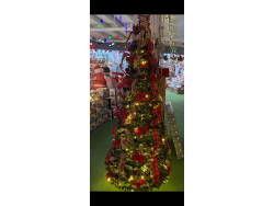 POP UP ONE PIECE DECORATED & LIT CHRISTMAS TREE