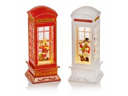 RED or WHIITE TELEPHONE BOX WATER SPINNERS