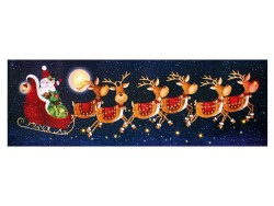 SLEIGH WITH 4 REINDEERS LED