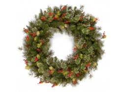 WINTRY PINE WREATH 30""