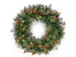 WINTRY PINE WREATH 48""