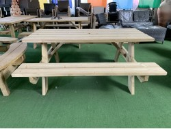 Timber picnic tables heavy duty thick pressure treated