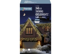 ICICLE LIGHTS WARM WHITE 23.8M LEDS SNOWING