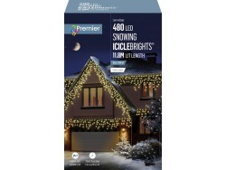 ICICLE LIGHTS WARM WHITE 11.8M LEDS SNOWING