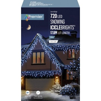 ICICLE LIGHTS ICE WHITE 17.8M LEDS SNOWING