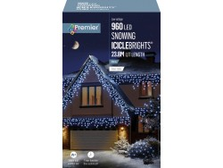 ICICLE LIGHTS ICE WHITE 23.8M LEDS SNOWING
