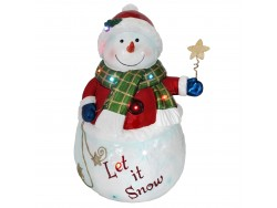 Snowman with Star Resin NT