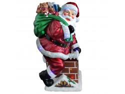 Santa on Chimney Large Resin NT