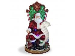 Santa Sitting on Throne Resin Large NT