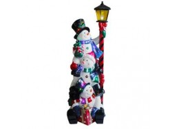 Snowmen with Lamp Large Resin NT