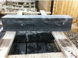 Black Limestone Walling or Edging Large 500 mm