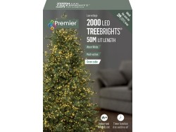 Tree Brights 2000 on 50m WARM WHITE LEDS